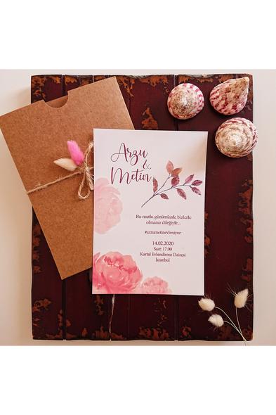 Bridalook - Soft Çiçekler Davetiye