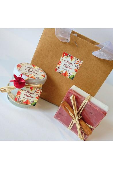 Bridalook - Tarçınlı Mum ve Sabun Seti SU61