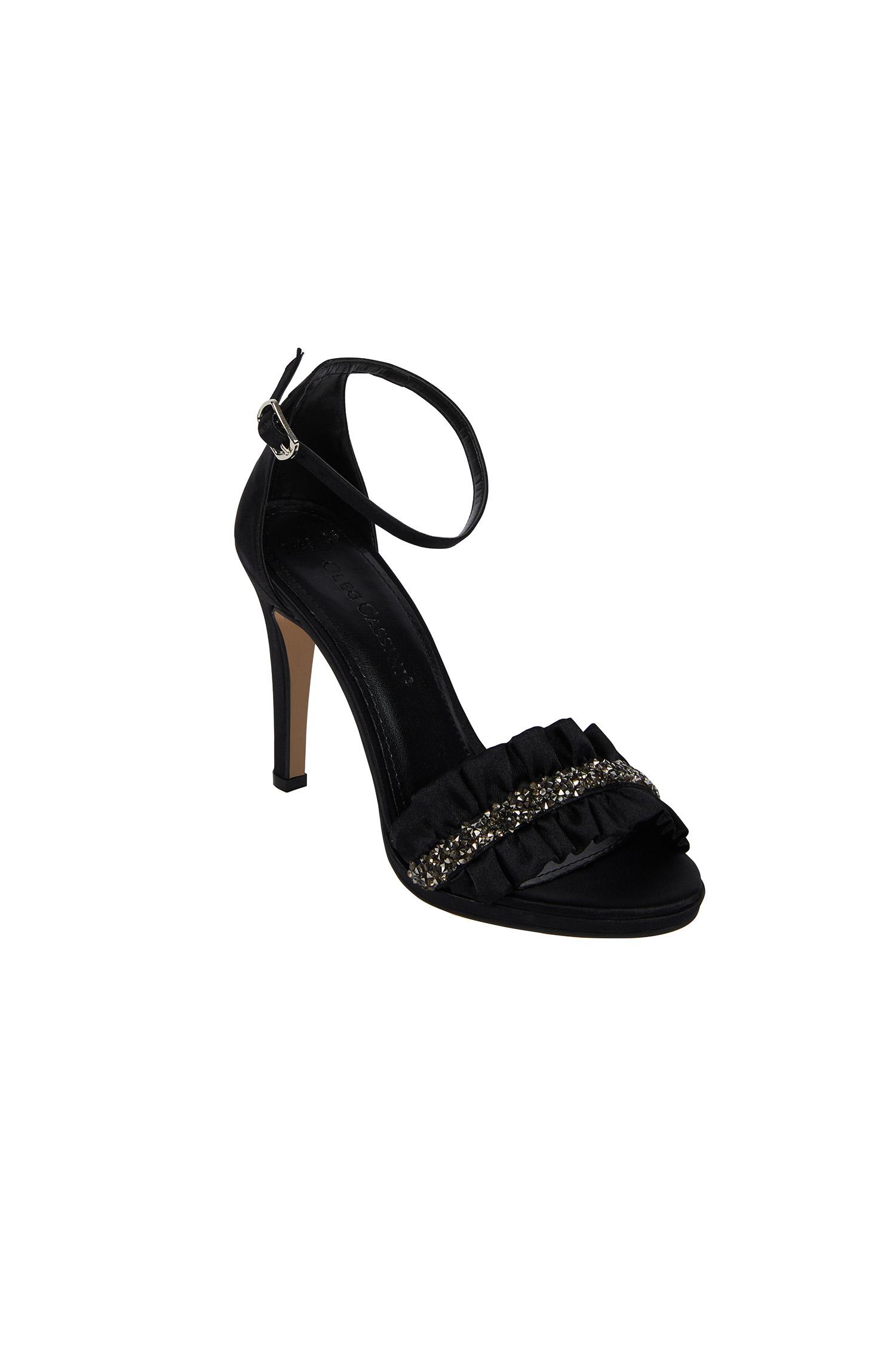 Taş İşleme Detaylı Siyah Renk Abiye Ayakkabı