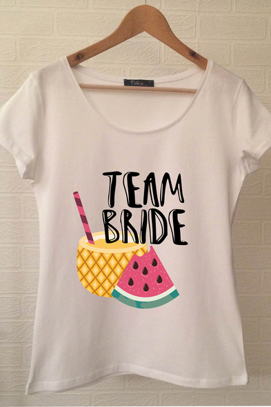 Team Bride T-shirt ukde100 - Oleg Cassini