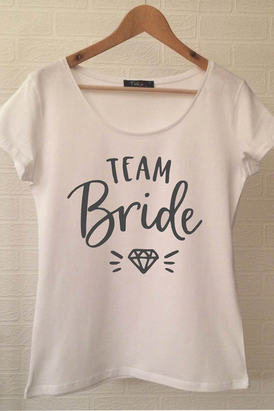 Team Bride T-shirt ukde109 - Oleg Cassini