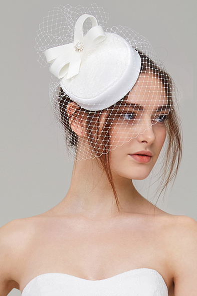 Turkuaz Aksesuar - Vintage Nikah Şapkası (1)