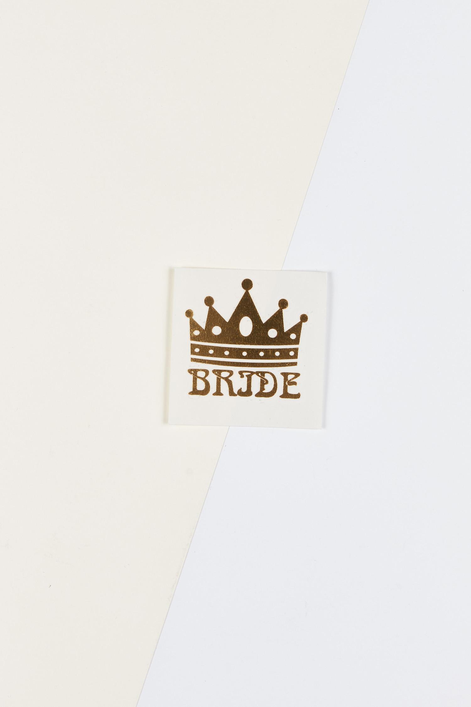 Yapıştırmalı Dövme Bride Yazılı - Thumbnail