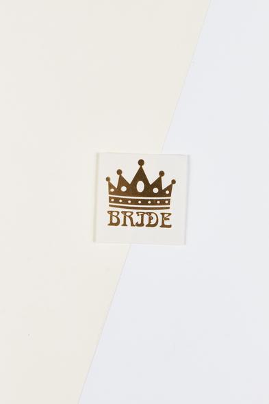 OLEG CASSINI TR - Yapıştırmalı Dövme Bride Yazılı