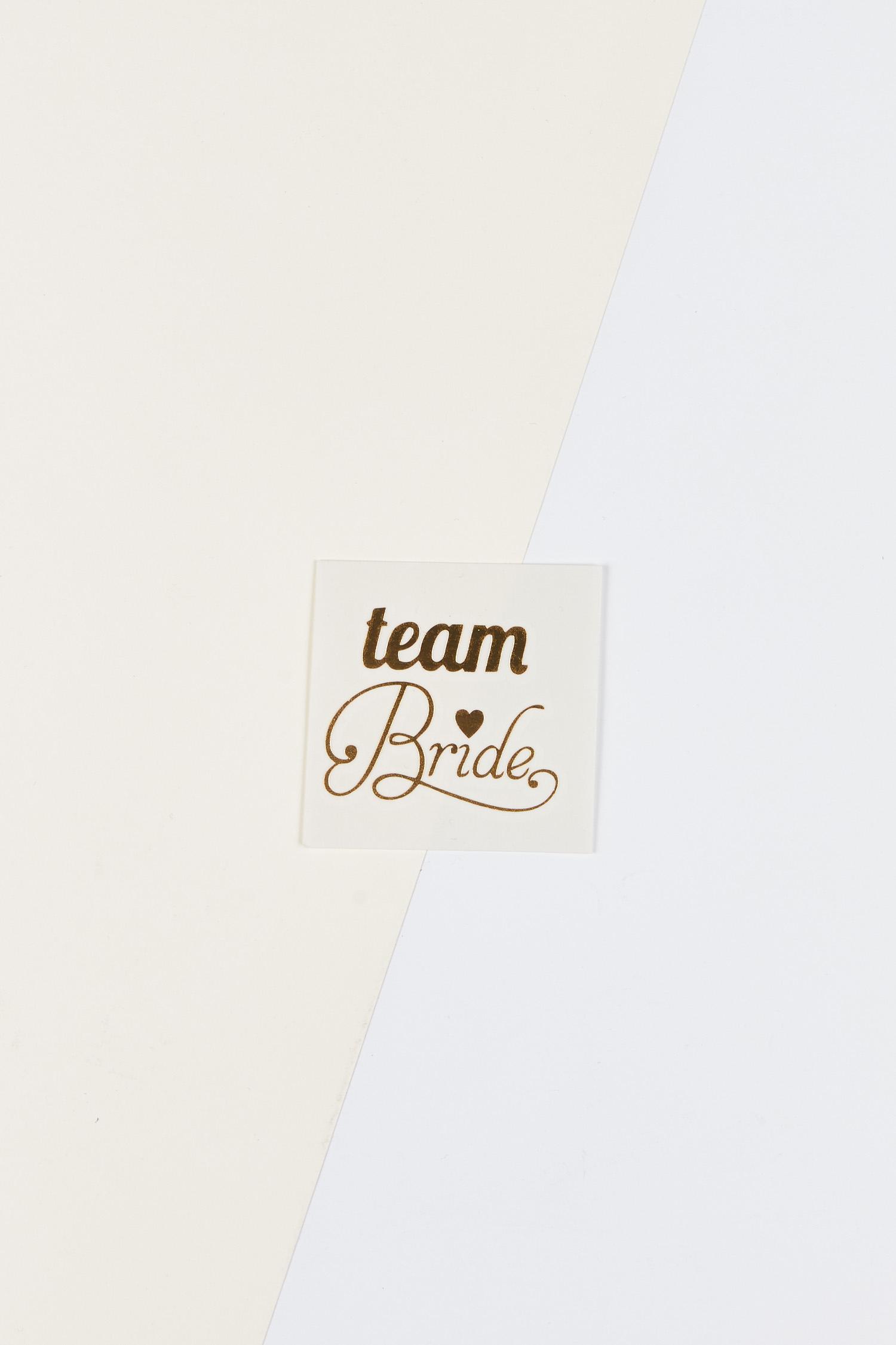 Yapıştırmalı Dövme Team Bride Yazılı Kalpli - Thumbnail