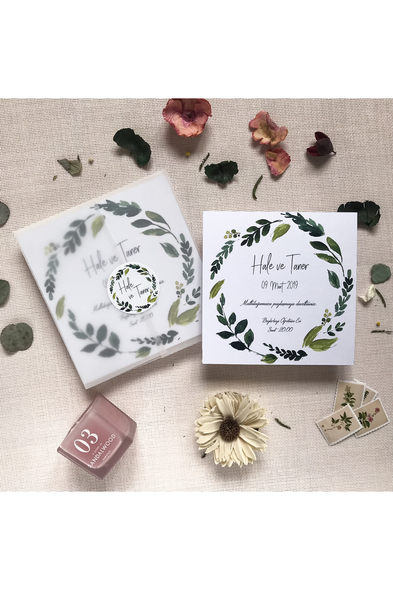 Paprika Design - Yeşil Yapraklar Davetiye