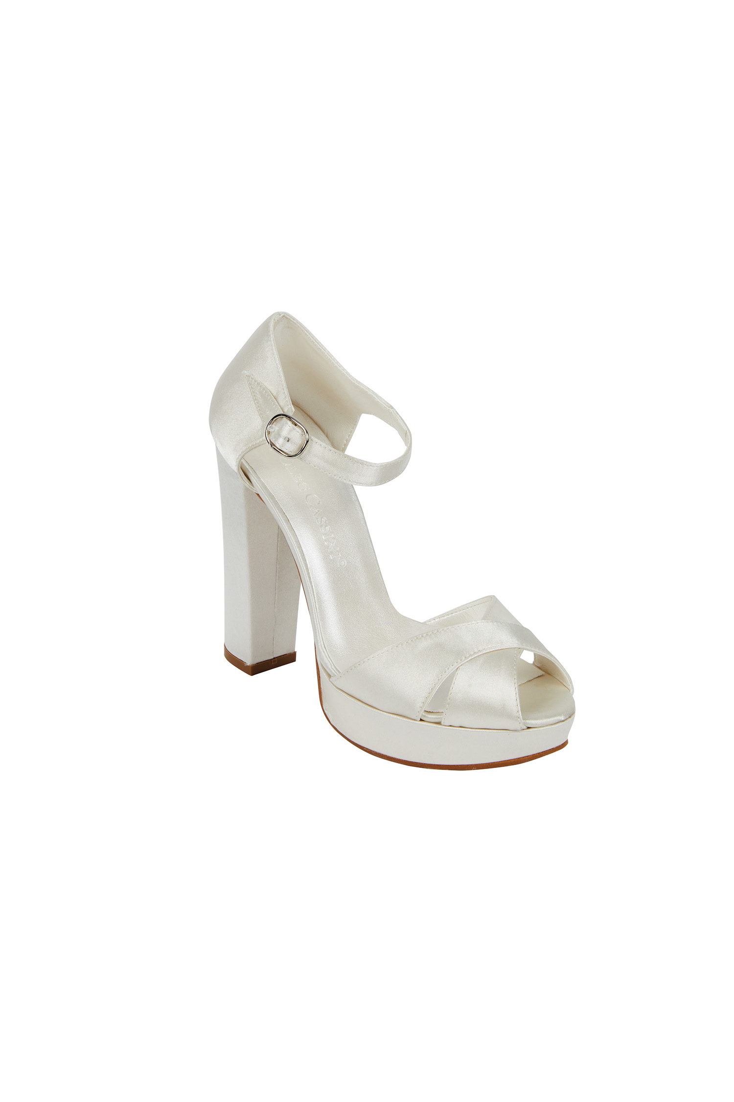 Yüksek Topuklu Kırık Beyaz Gelin Ayakkabısı